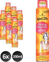 Got2b Droogshampoo Texture Voordeelverpakking 6x200ml