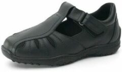Zwarte Nette schoenen Calzamedi COMFORTABEL EN BREED DIABETISCH HEREN SANDAAL