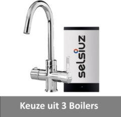 Kokendwaterkraan Selsiuz Rond Chroom Inclusief Boiler (Keuze uit 3 boilers)