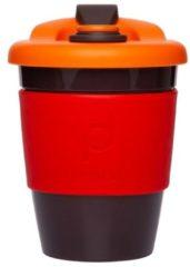 Rode Set van 2 - Herbruikbare Koffiebeker - 340ml - Vulcano Red - Kunststof - Pioneer