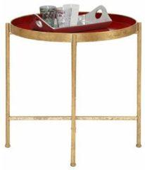 Home affaire Beistelltisch aus Metall, Tischplatte mit 5 cm hohem Rand
