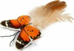 Beeztees Pluche Kattenspeelgoed vlinder fligo oranje 8
