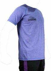 Legend Sports Dryfit Sportshirt Melange Blauw/grijs Maat Xs
