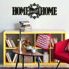 Zwarte Crearreda - 3D Muurdecoratie – Home Sweet Home