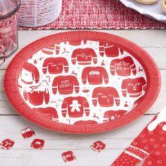 Ginger ray Cosy Christmas – Borden Rood Witte Kersttrui (8 stuks)