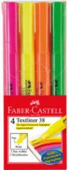 Faber Castell Tekstmarker Faber-Castell 38 4 kleuren op blister