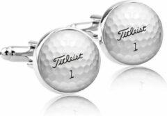 Zilveren Montebello Manchetknopen Golfbal - Heren - Metaal - ∅16 mm