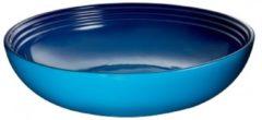 Blauwe LE CREUSET - Aardewerk - Serveerschaal 32cm Marseille