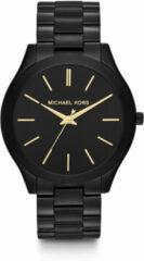 Zwarte Michael Kors horloge Ladies Slim Runway MK3221