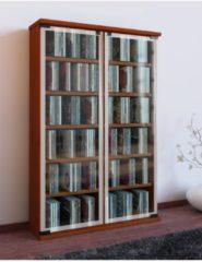 Regal DVD CD Rack Medienregal Medienschrank Aufbewahrung Holzregal Standregal Möbel Bluray Möbel VCM Kirschbaum
