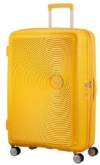 Gele American Tourister Soundbox Spinner Spinner Reiskoffer (Large) - 110 liter - Golden Yellow