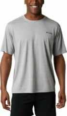 Grijze Columbia Outdoorshirt Zero Rules Short Sleeve Shirt Heren - Columbia Grey H - Maat S