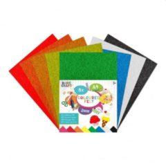 Craft Sensations Vilt vellen | Formaat A4 | 8 verschillende kleuren | knutselen voor kinderen