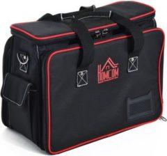 HOMCOM Werkzeugtasche mit Schultergurt Werkzeugkoffer Wergzeug Tasche mit Tragegurt
