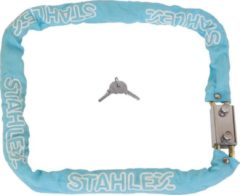 Stahlex Ø8mm / 120cm massief 1,65kg hoog gehard staal kettingslot fietsslot scooterslot blauw