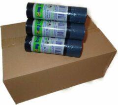 Zwarte Romy Bags 60L Vuilniszakken, 1 Doos van 30 Rollen, 300 Zakken Eco Friend 100% recycled