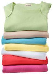 Roze Shirt-top met gepaspeleerde hals
