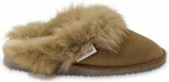 Bruine Texelana Reina pantoffel/instapper/slipper van schapenvacht - maat 41