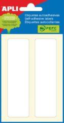 Apli witte etiketten ft 38 x 102 mm (b x h), 12 stuks, 2 per blad (2685)