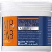 Nip+Fab Gesichtspflege Exfoliate Glycolic Fix Night Pads Extreme 60 Stk.