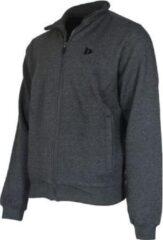 Donnay sweater zonder capuchon - Sporttrui - Heren - Maat L - Donkergrijs gemêleerd