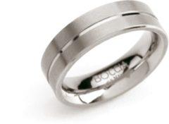 Zilveren Boccia Titanium Ring 1 lijn - 0101-07