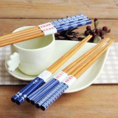 Davim Chopsticks - Bamboe - 5 paar - Blauw - Sushi set