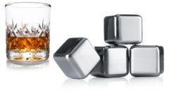 Transparante Vacu Vin Whiskey Ijsblokjes - Set van 4