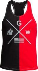 Gorilla Wear Sterling Tank Top - Zwart/Rood - 2XL
