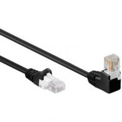 Zwarte U-UTP Kabel - 10 meter - Zwart - Haakse Netwerkkabel - Goobay