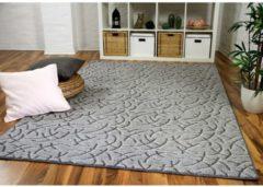 Konturenschnitt Hochflor Langflor Teppich Frieda in 5 Farben und 17 Größen Snapstyle Grau