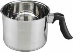 Zilveren Cosy&Trendy RVS steelpan/sauspan/melkpan 16 x 7,5 cm - Sauspannetje / melkpannetje - Steelpannetje - Koken - Keukengerei