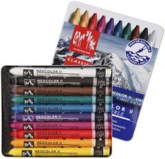 Alles Voor Kleuren Neocolor II, dikte 8 mm, l: 10 cm, 10 stuks, diverse kleuren