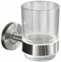 Roestvrijstalen Praya 304 Wiesbaden glashouder met glas RVS 24.3824