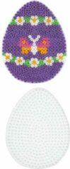 Witte Hama grondplaat voor strijkkralen EI/ PAASEI (strijkkralenbordje)