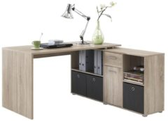 FD Furniture Computer hoekbureau Loki 136 cm breed in eiken