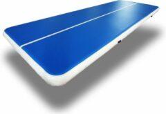 Dutchairtrack AirTrack Pro - Turnmat - Gymnastiek Blauw| 600x200x20 CM | Sporten & Spelen | Buiten & Binnen | Waterproof | Met elektrische pomp