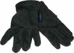 Donkergrijze P&T Handschoenen Kinderen 10-12j. Donker Grijs, Fleece, Zacht, Warm, Soepel