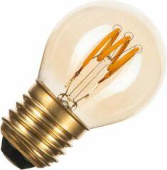Gouden Bailey spiraal LED filament kogellamp E27 3W vintage