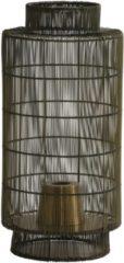 Bronze Light & Living Tafellamp lantaarn Gruaro - 24x52cm - draad-antiek brons - Light & Living