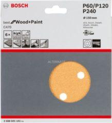 Milwaukee Bosch C470 Schleifblatt, 6er-Pack für Exzenterschleifer 2608605102