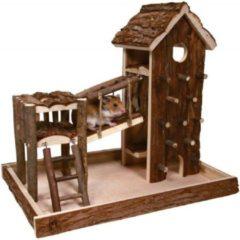 Bruine Trixie speelplaats birger hamster schorshout 33x26x33 cm