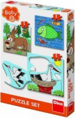 Dino Toys Dierenpuzzels 3, 4 en 5 stukjes