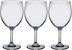 Bormioli 12x Stuks wijnglazen transparant 410 ml - Wijnglas voor rode wijn op voet