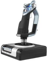 Logitech Gaming Saitek X52 Hotas Flight Control System PS28 Vliegsimulator-joystick USB PC Zilver, Zwart