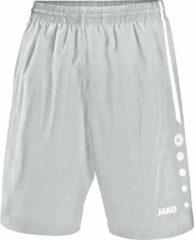 Jako - Shorts Turin - zilvergrijs/wit - Maat 152
