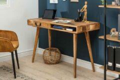 Interieurs online Massiev Mango Hout bureau met Lade 120 cm