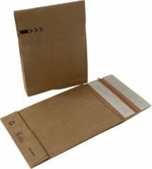 Bruine Papieren verzendzakken. 50 stuks. 350mm x 450mm x 80mm. + kortpack pen (056.0336)