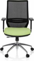 Hjh OFFICE Profondo - Professionele bureaustoel - Zwart / Groen - stof / netstof