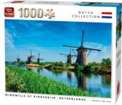 Witte King Puzzel 1000 Stukjes WINDMILLS, KINDERDIJK, NETHERLANDS